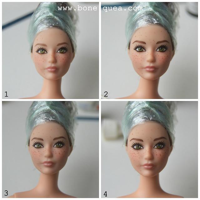 Cómo poner pecas a nuestras muñecas: tutorial