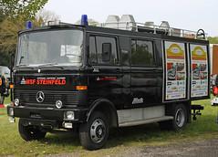 Black fire truck