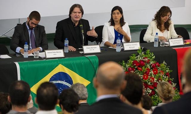 Estado democrático e Estado de exceção foram tema de seminário promovido pela Fundação Perseu Abramos nesta segunda (29), em Brasília - Créditos: Lula Marques/Agência PT