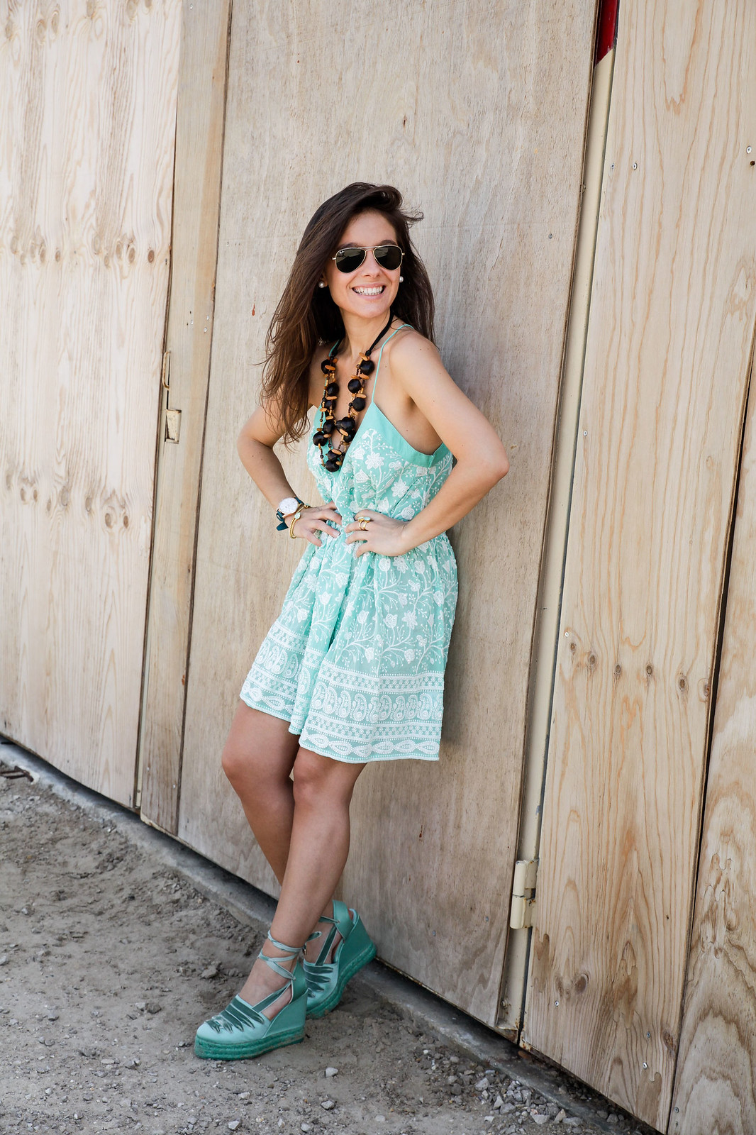 09_turquoise__dress_summer_outfit_miss_june_castañer_cuñas_aguamarina_theguestgirl_influencer_barcelona_laura_santolaria