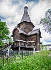 The Wooden Uspenskaya (Dormition) Church in Spaso-Prilutsky Monastery. 1519. Vologda