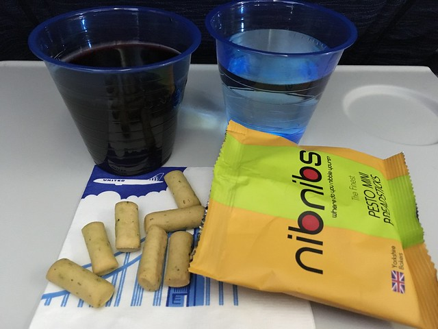 Nibnibs pesto mini breadsticks - United Airlines