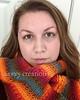 Tunisian Knit-alike Scarf, Self-Portrait