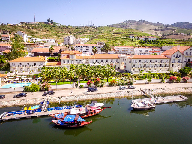 The Douro River and view of The Vintage House Aerial