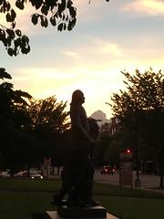 George Washington statue at sunset, Society of the Cincinnati, Washington, D.C.