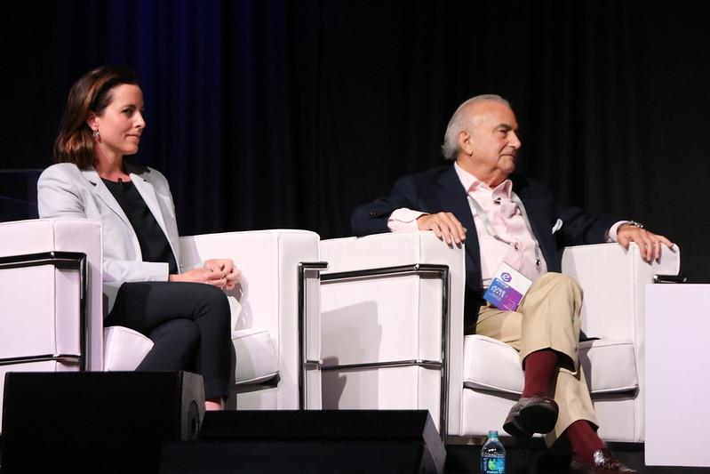 Adriana Cisneros de Griffin y Gustavo A. Cisneros en el eMerge Americas 2017