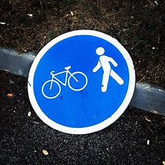 Pavement Special #signage #signs #cycle #bicycle #pavement #sidewalk #walk