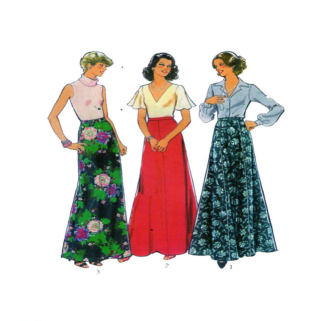 Style 2162 maxi skirt pattern