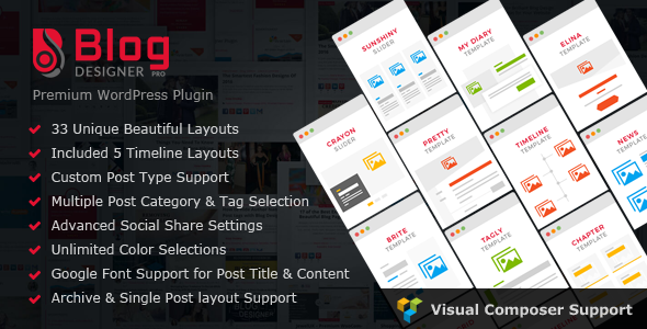 Blog Designer PRO for WordPress v1.5.1