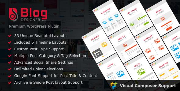 Blog Designer PRO for WordPress v1.5.2