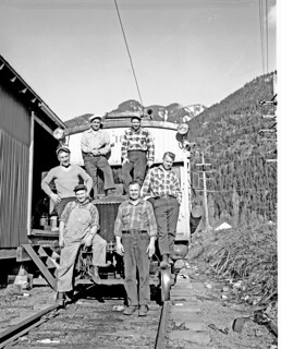 City Light crew at Newhalem, 1954