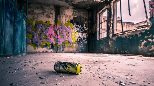 Graffiti in abandoned building - Bucharest, Romania - Travel photography