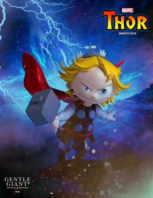 大小眼的可愛雷公?!Gentle Giant【雷神索爾】Thor Animated Statue 全身雕像作品