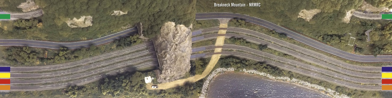 Breakneck Mountain (NTRAK module) is a  freelanced interpretation of the upstate area of New York and is loosely based on the module pair built by Dick Christianson and featured in Model Railroader Magazine, April and May issues of 1988