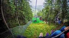 White knuckle right on the ski lifts of Zakopane