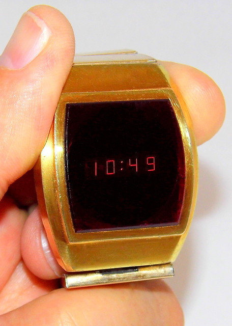 Vintage Fairchild Men's Electronic Quartz Watch, Red LED Display, Circa 1970s