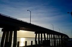 Sunset at the Ponquogue Bridge