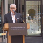 Raffi Berberian created the Trinity Commemorative Window exhibit for Millennium Partners.
