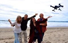 Queen drone beach landing