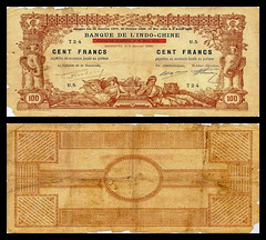 (DJF7a) 1920 Djibouti: Banque de L'indo-Chine, One Hundred Francs (A/R)...