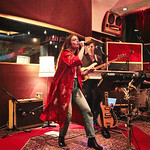 Tue, 09/05/2017 - 7:09pm - Maggie Rogers delights a room of WFUV members at Electric Lady Studios in New York City, 5/9/17. Hosted by Carmel Holt. Photo by Gus Philippas