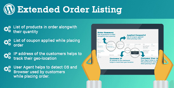 Extended Order Listing WordPress Plugin free download