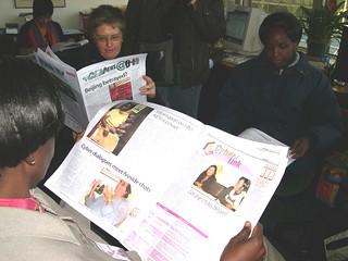 APC_Reading the GEM News newspaper, 2005