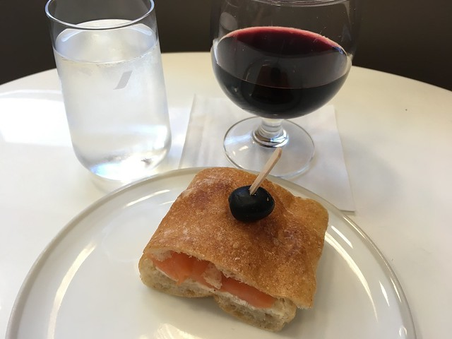 Smoked salmon sandwich - Air France KLM Lounge