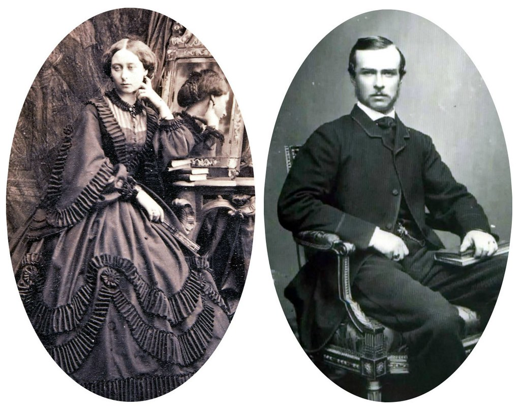 Princess Alice and Louis of Hesse, 1860