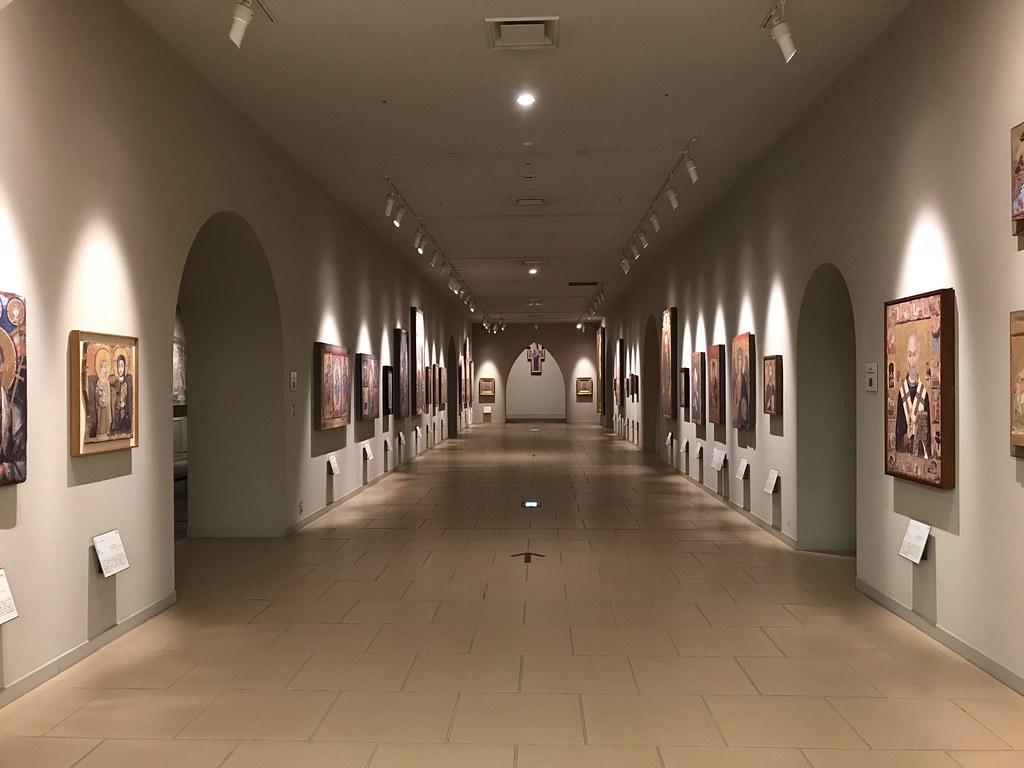 絵画(陶板)の展示