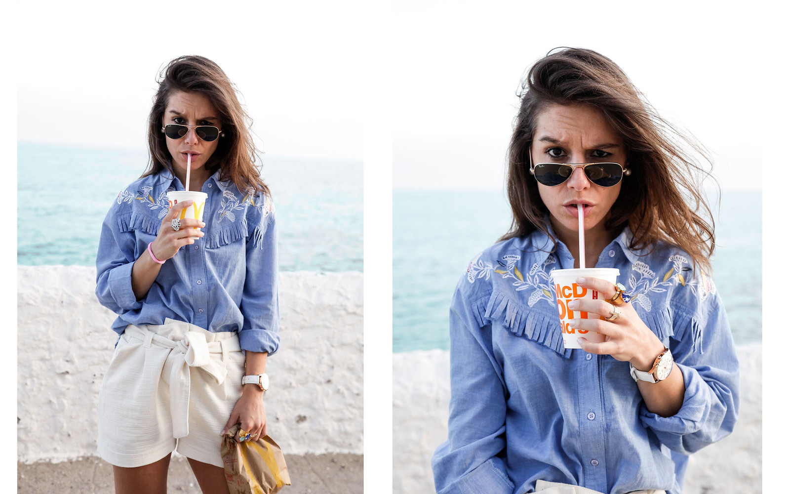 05_camisa_flecos_azul_mysundaymorning_fringed_shirt_fringed_theguestgirl_influencer_inspo_outft_summer_laura_santolaria_public_desire_denim_shoes_mc_donalds