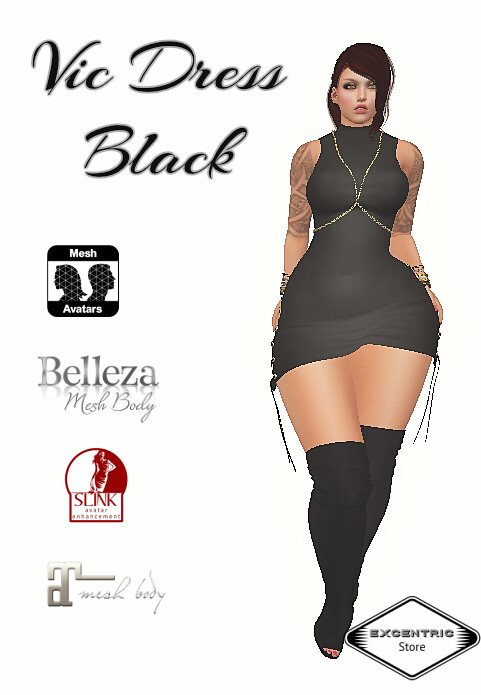 Excentric Black Dress Vic - SecondLifeHub.com