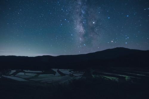 養父市 兵庫県 japan 但馬 氷ノ山 山 mountain 星景 starscape 棚田 田園 field