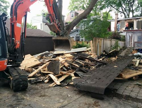 Laneway demolition