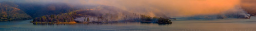 400mm california castaic losangeles wildfire castaiclake fineartphotojournalism fire haze incident lake mist morning nature panorama panoramic smoke steam sunrise wildlandfire