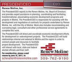 Renew Moline CEO/President Position 2017