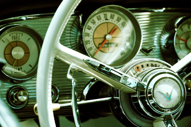Ford Thunderbird Dashboard, Nikon D4, Sigma APO Macro 150mm F2.8 EX DG HSM