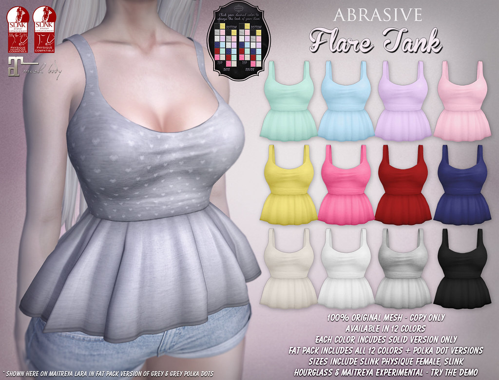 Flare Tank @ SaNaRae May 2017 Round - SecondLifeHub.com