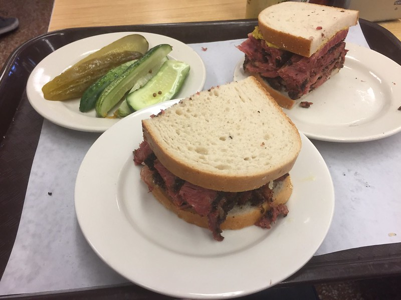 Pastrami sandwich at Katz's Delicatessen