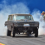 The+Hoopty+Wagon+Falcon+C%2FGasser+doing+a+10%2C000+rpm+burnout
