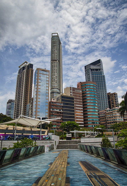 Blue skies over Kowloon