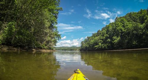 eastatoe estatoecreek kayaking lakekeowee paddling southcarolina sunset unitedstates us