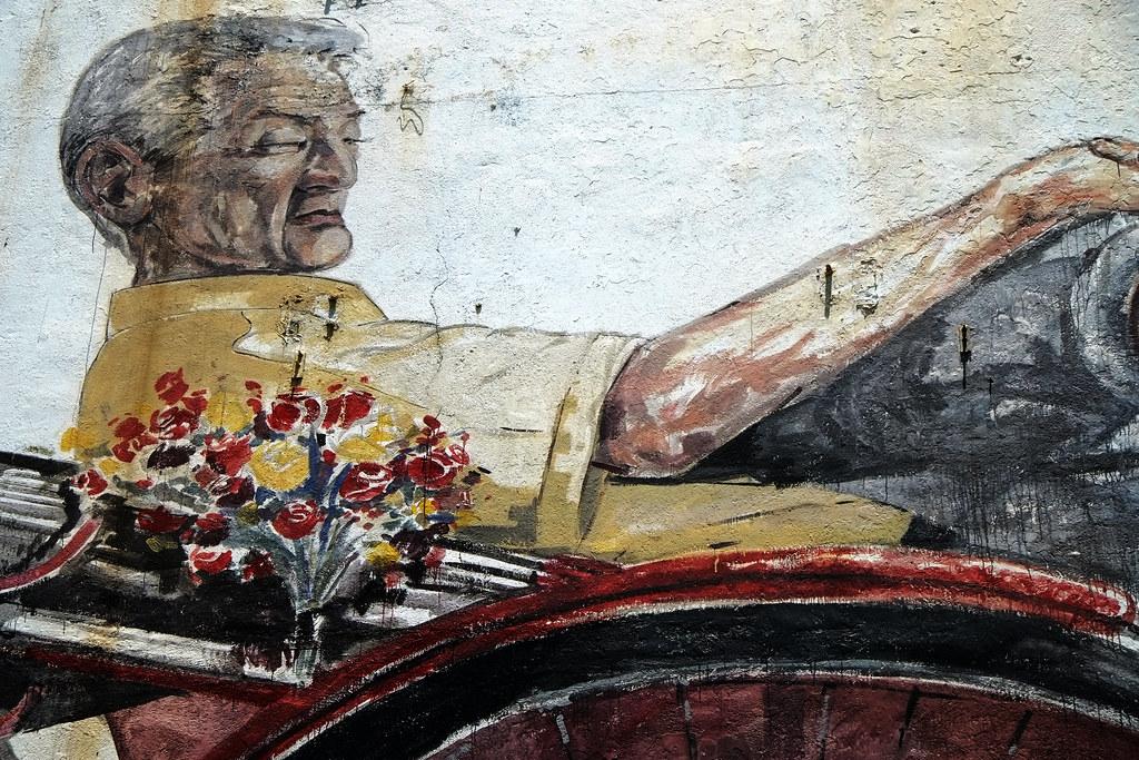 Trishaw Man Mural, Georgetown Penang