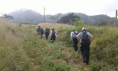 Bomberos de Chone y estudiantes universitarios escalaron cerro de Ricaurte