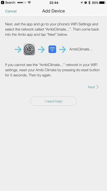 Ambi Climate Second Edition - iOS App - Setup #3