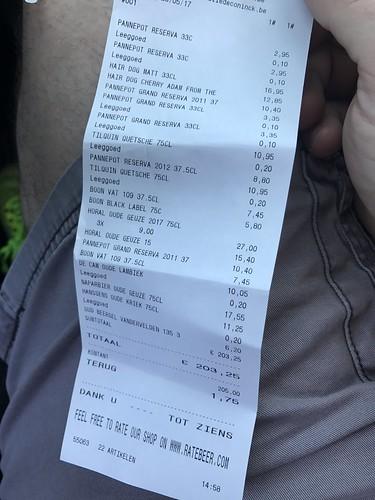 Beer Store Receipt