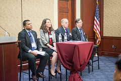 Panel (left to right): Dr. Satu Limaye, Acting Deputy Assistant Secretary Patricia Mahoney, Lt. Gen. (ret.) Chip Gregson, Alex Feldman