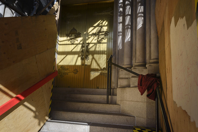 Cathedral Entrance During the Renovation of the Cathedral Basilica of the Immaculate Conception