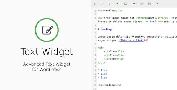 Text Widget WordPress Plugin free download