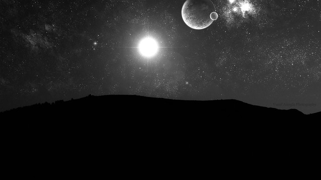 Under The Stars (Black and White)